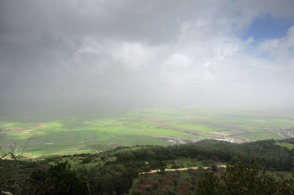 A storm in the Jezreel Valley as seen from Mt Carmel