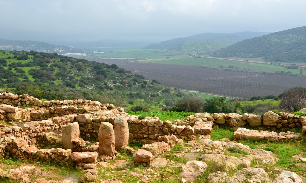 Looking in the direction of Socoh, over the Elah valley, from Khirbet Qeiyafa