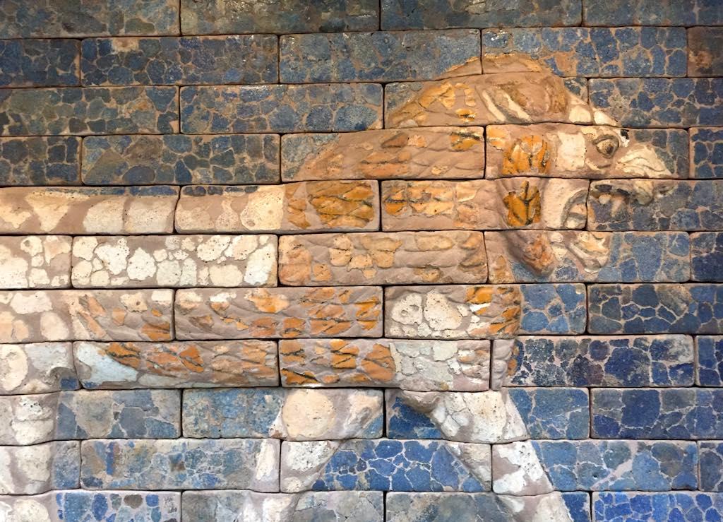 Glazed-brick panel from the Throne Room of Nebuchadnezzar II
