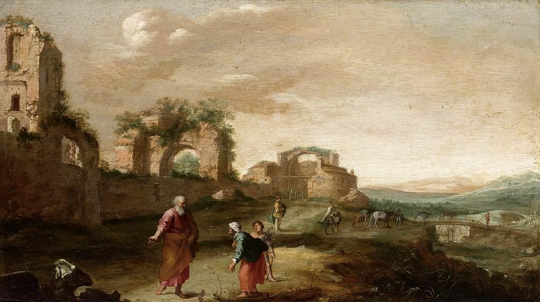 Bartholomeus Breenbergh - Elijah and the Widow of Zarephath