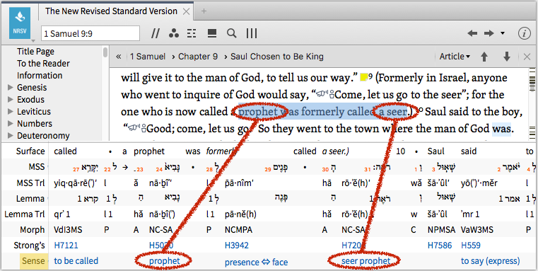 """The """"Inline Interlinear"""" view in Logos"""